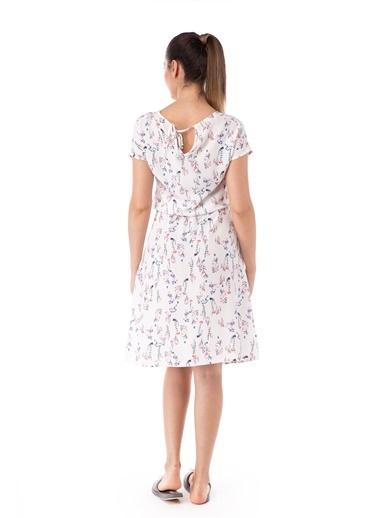 Pamuk & Pamuk Çiçek Desenli Kadın Elbise Renkli